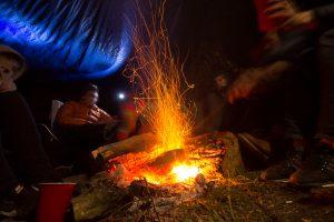 Campfire at Ile de Boulancourt